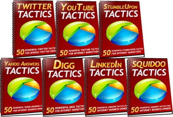 Product picture 350 Social Media Tactics with MRR